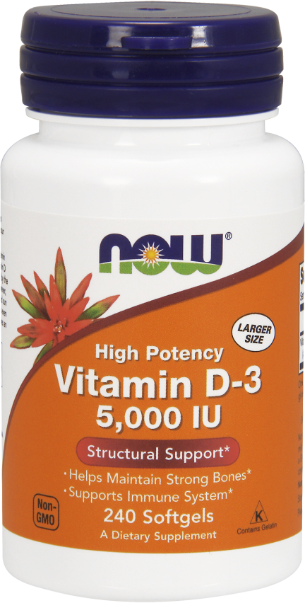 NOW Foods Vitamin D-3 - 5,000IU 240 Softgels