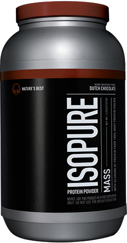 Nature's Best Isopure Mass - 3.25lbs Dutch Chocolate