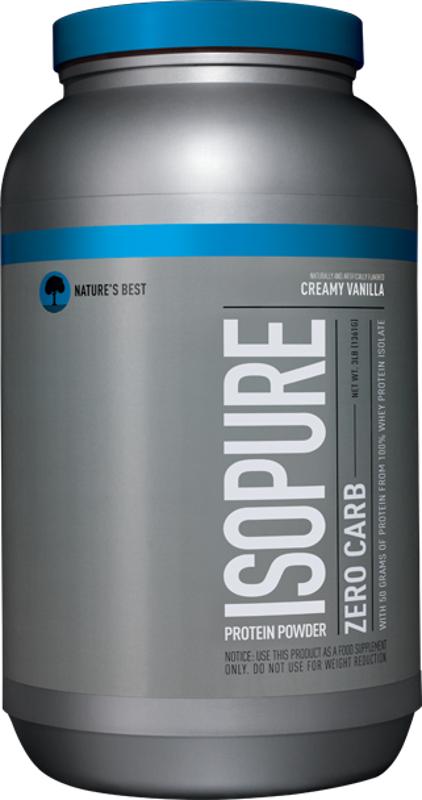 Nature's Best Isopure Zero Carb Protein - 3lbs Creamy Vanilla