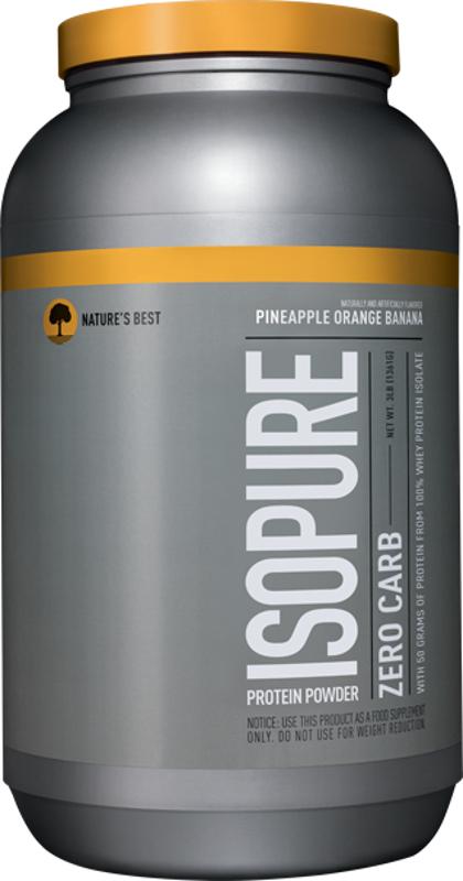 Nature's Best Isopure Zero Carb Protein - 3lbs Pineapple Orange Banana