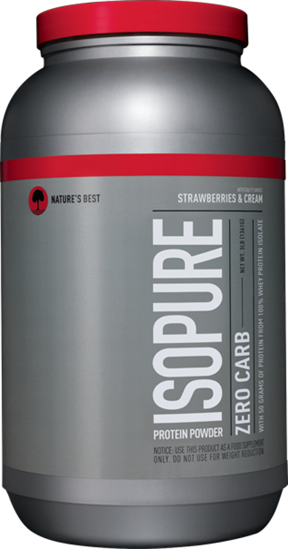 Nature's Best Isopure Zero Carb Protein - 3lbs Strawberries & Cream