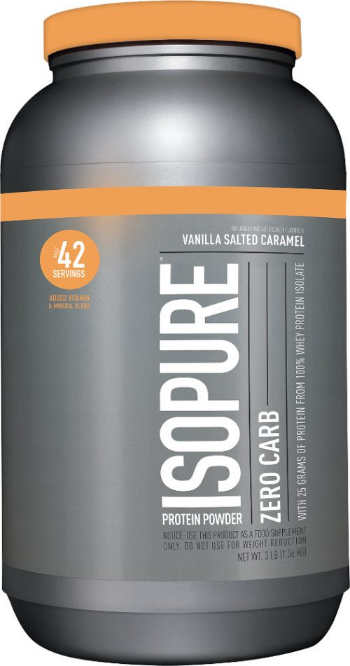 Nature's Best Isopure Zero Carb Protein - 3lbs Vanilla Salted Caramel