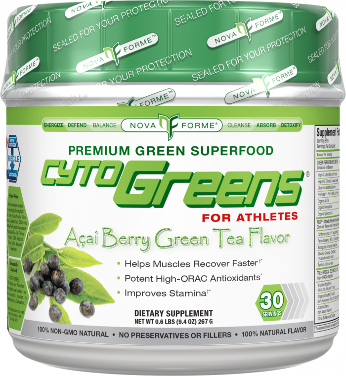 Novaforme CytoGreens - 60 Servings Berry Green Tea