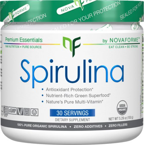 Novaforme Spirulina Powder - 30 Servings Unflavored