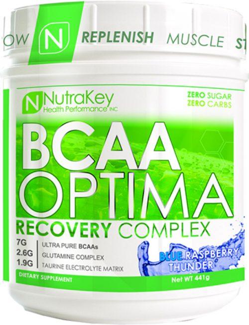 NutraKey BCAA Optima - 30 Servings Raspberry Thunder