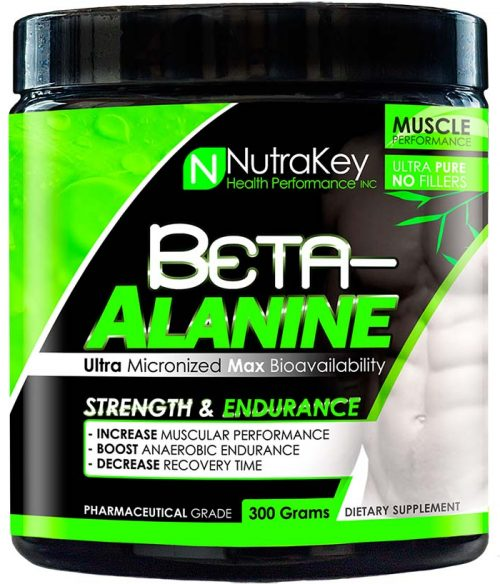 NutraKey Beta-Alanine - 100 Servings Unflavored