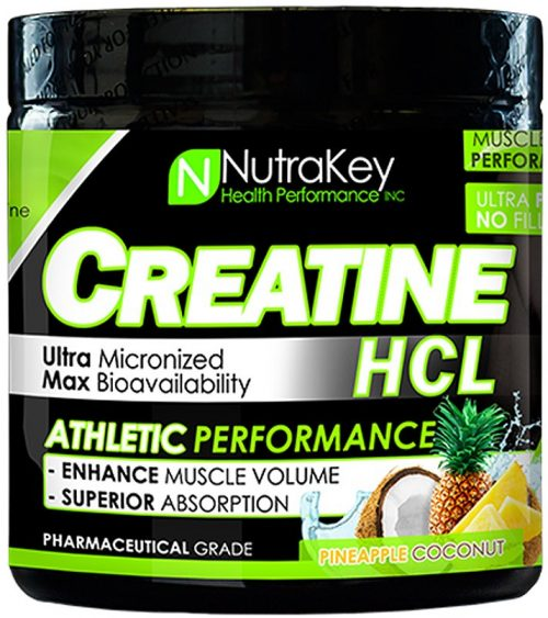 NutraKey Creatine HCl - 125 Servings Pineapple Coconut