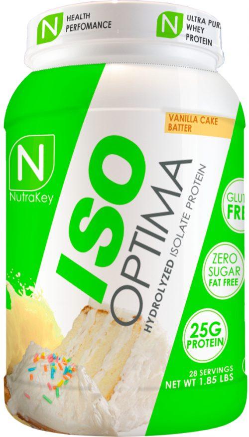 NutraKey ISO Optima - 1.8lbs Vanilla Cake Batter