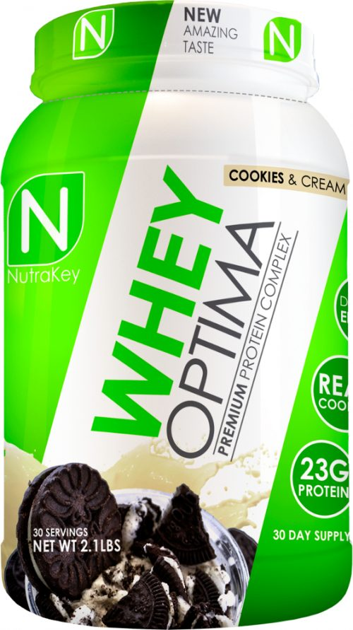 NutraKey Whey Optima - 2lbs Cookies & Cream