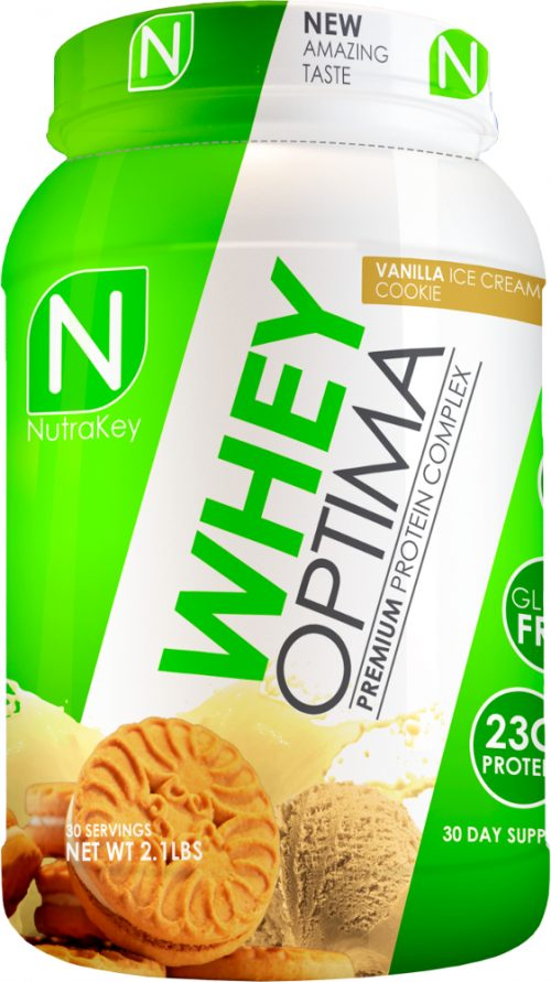 NutraKey Whey Optima - 2lbs Vanilla Ice Cream Cookie