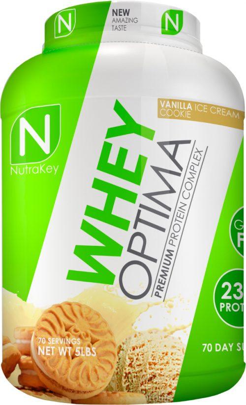 NutraKey Whey Optima - 5lbs Vanilla Ice Cream Cookie