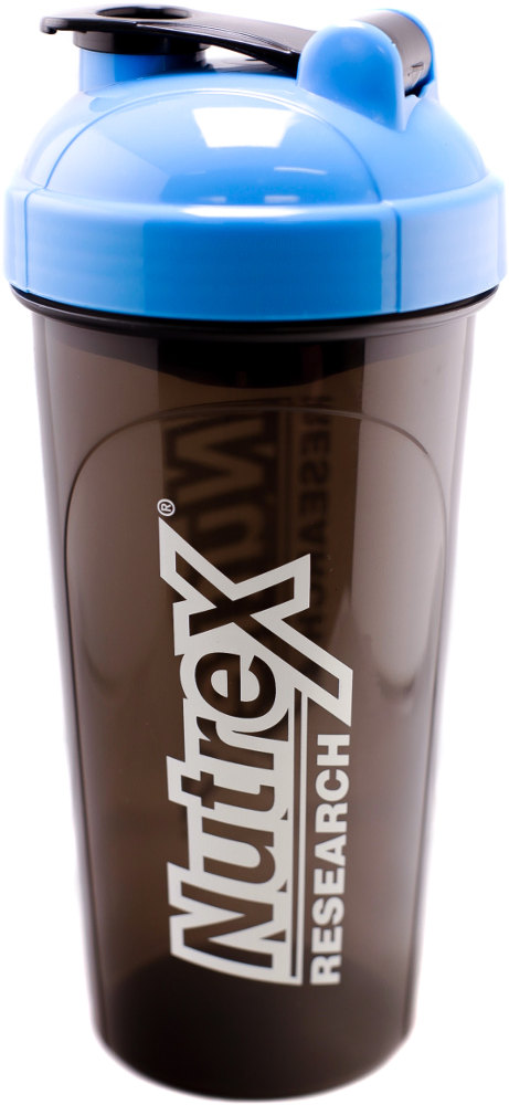 Nutrex Leak-Proof Shaker - 25 oz Bottle Blue/Black
