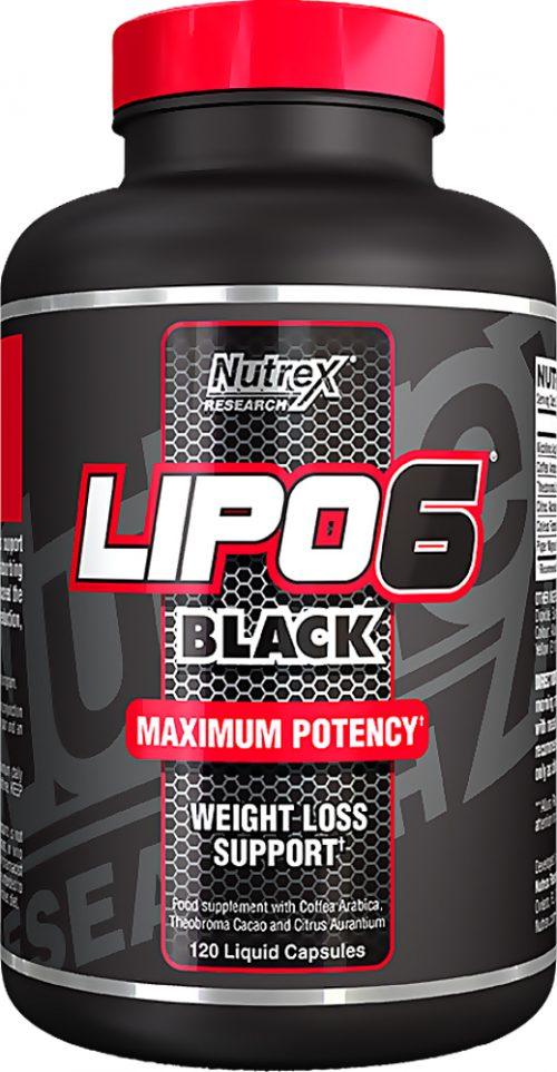 Nutrex Lipo-6 Black - 120 Black-Caps