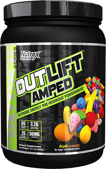 Nutrex Outlift Amped - 20 Servings Fruit Candy