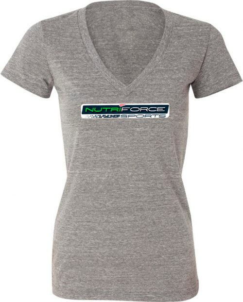 "NutriForce Sports ""Never Quit"" Women's V-Neck - Grey Small"