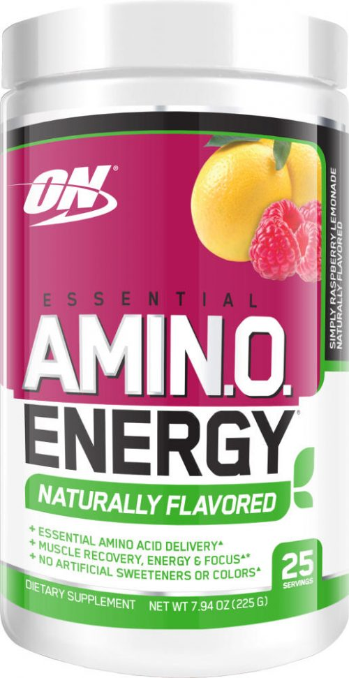 Optimum Nutrition Amino Energy - 25 Servings - Naturally Flavored Rasp