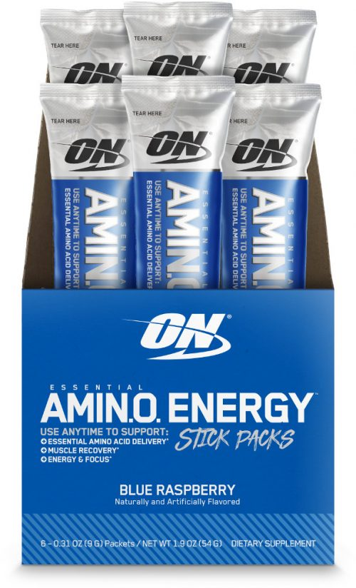Optimum Nutrition Amino Energy - 6 Stick Packs Blue Raspberry