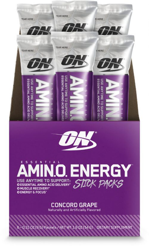 Optimum Nutrition Amino Energy - 6 Stick Packs Concord Grape