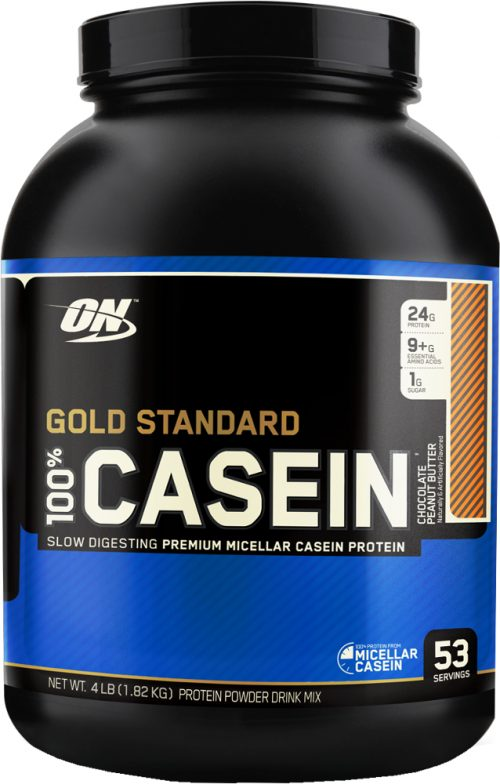 Optimum Nutrition Gold Standard 100% Casein - 4lbs Chocolate Peanut Bu