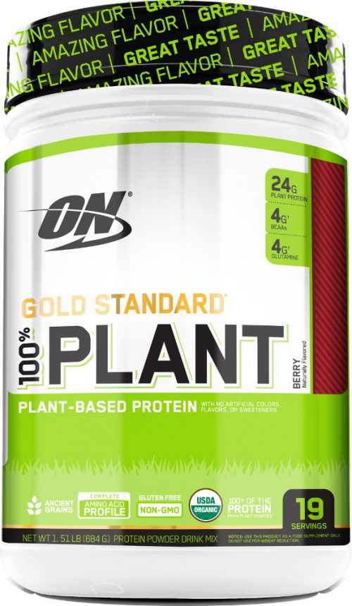 Optimum Nutrition Gold Standard 100% Plant Protein - 19 Servings Berry