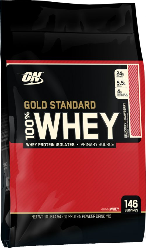 Optimum Nutrition Gold Standard 100% Whey - 10lbs Delicious Strawberry