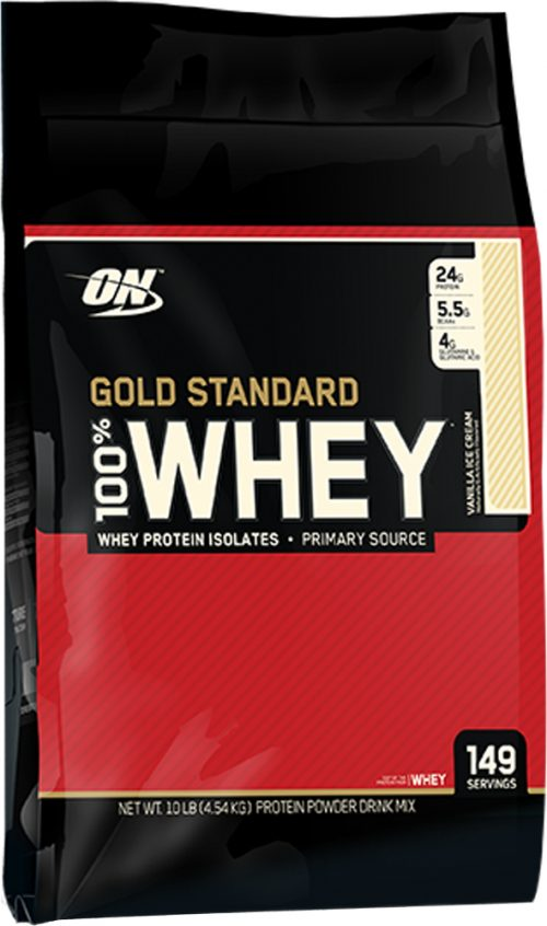 Optimum Nutrition Gold Standard 100% Whey - 10lbs Vanilla Ice Cream