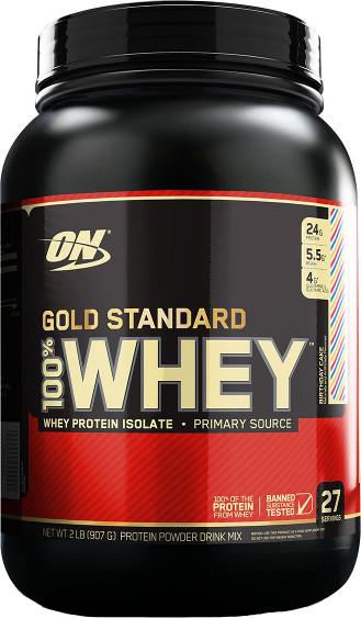 Optimum Nutrition Gold Standard 100% Whey - 2lbs Birthday Cake