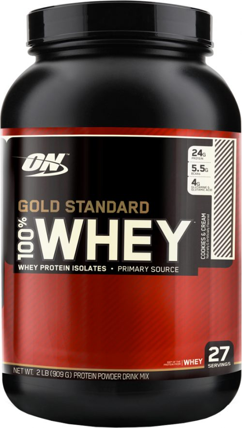 Optimum Nutrition Gold Standard 100% Whey - 2lbs Cookies & Cream