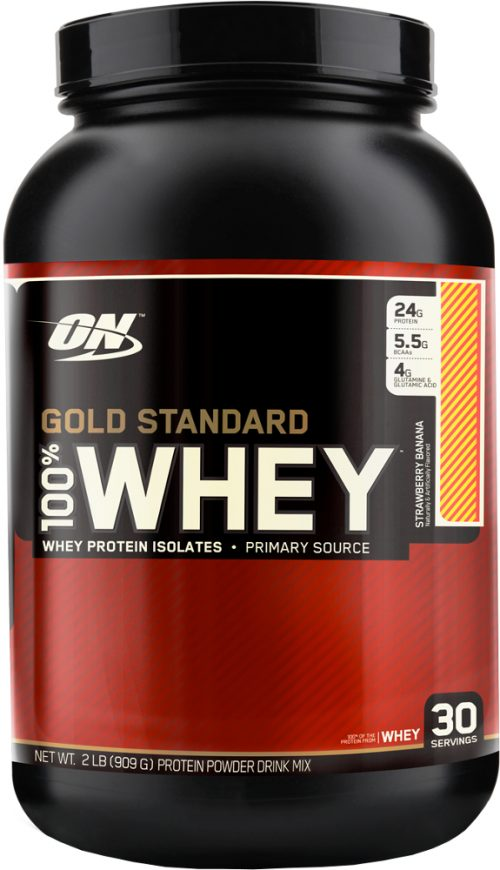 Optimum Nutrition Gold Standard 100% Whey - 2lbs Strawberry Banana