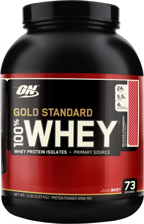 Optimum Nutrition Gold Standard 100% Whey - 5lbs Delicious Strawberry