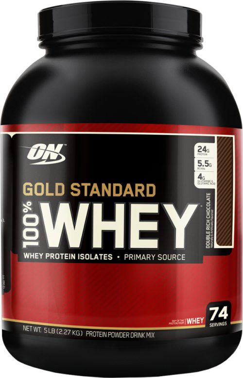 Optimum Nutrition Gold Standard 100% Whey - 5lbs Double Rich Chocolate