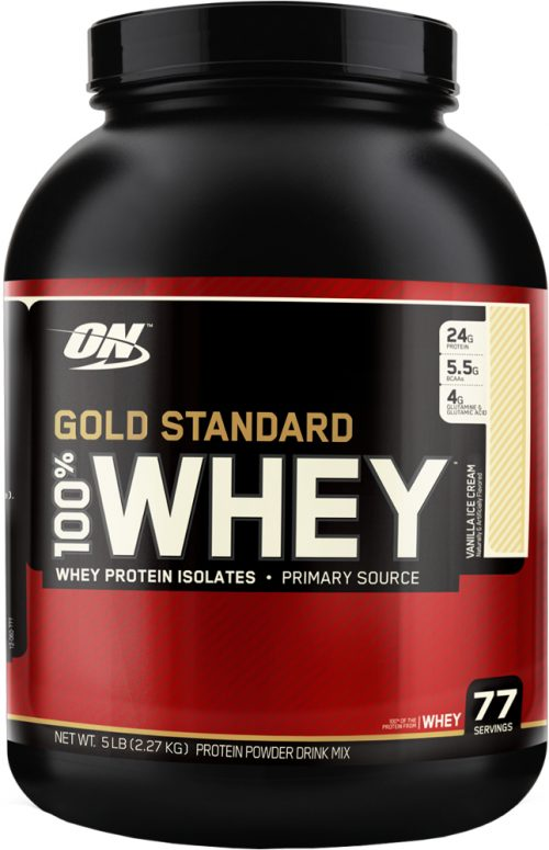 Optimum Nutrition Gold Standard 100% Whey - 5lbs Vanilla Ice Cream