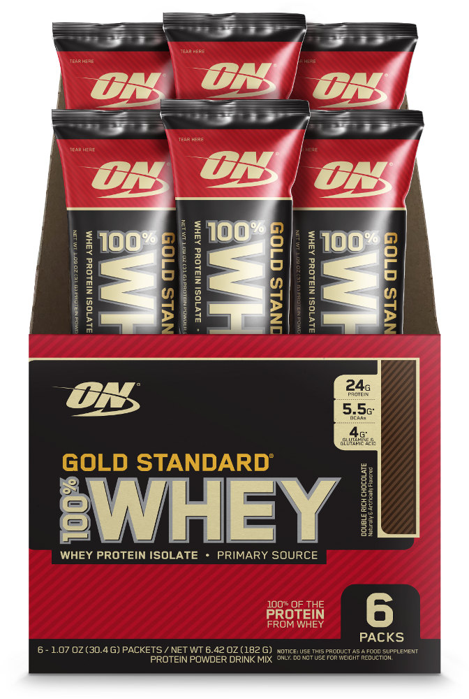 Optimum Nutrition Gold Standard 100% Whey - 6 Stick Packs Double Rich