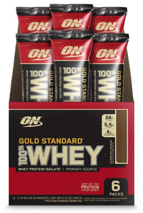 Optimum Nutrition Gold Standard 100% Whey - 6 Stick Packs Extreme Milk