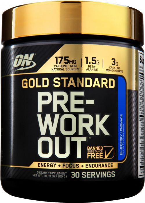 Optimum Nutrition Gold Standard Pre-Workout - 30 Servings Blueberry Le