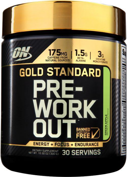 Optimum Nutrition Gold Standard Pre-Workout - 30 Servings Green Apple