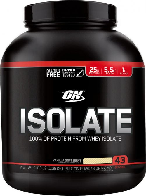 Optimum Nutrition Isolate - 3lbs Vanilla Softserve