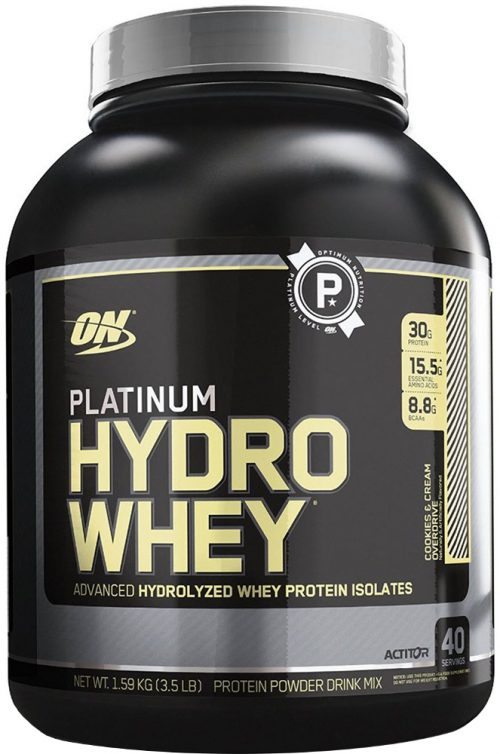 Optimum Nutrition Platinum Hydrowhey - 3.5lbs Cookies & Cream Overdriv