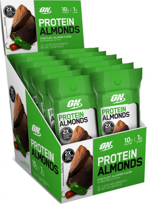Optimum Nutrition Protein Almonds - 12 Pack Chocolate Jalapeno