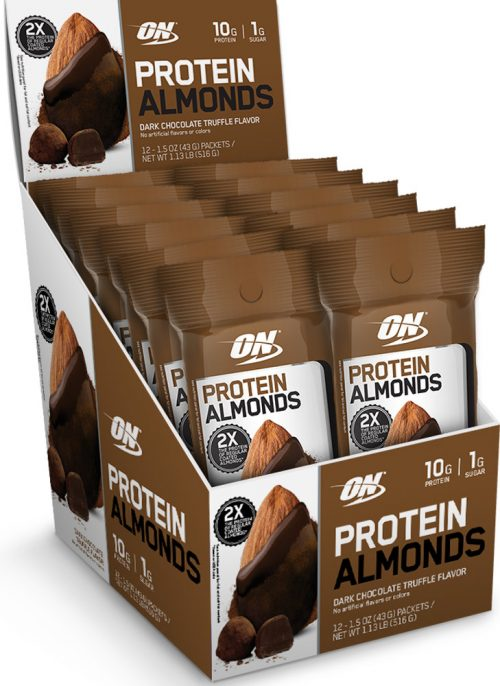 Optimum Nutrition Protein Almonds - 12 Pack Dark Chocolate Truffle
