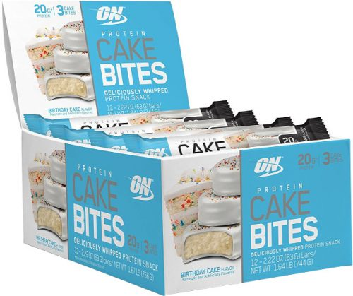 Optimum Nutrition Protein Cake Bites - Box of 12 Birthday Cake