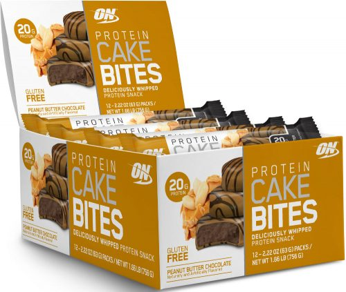 Optimum Nutrition Protein Cake Bites - Box of 12 Chocolate Peanut Butt