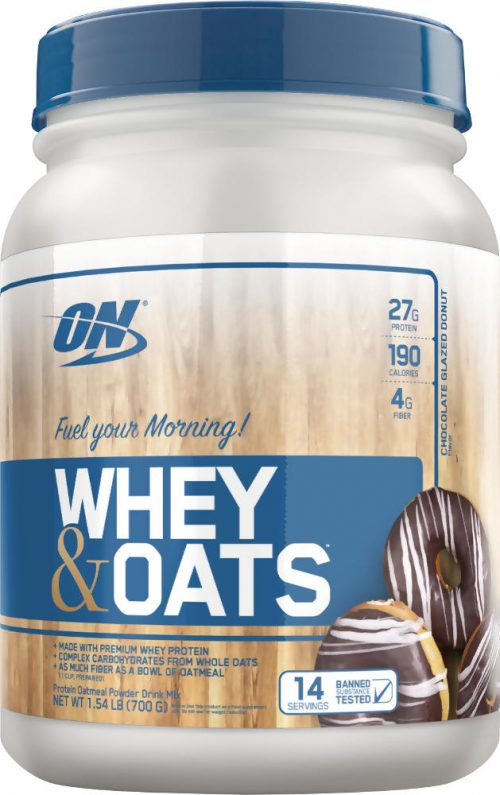 Optimum Nutrition Whey & Oats - 14 Servings Chocolate Glazed Donut