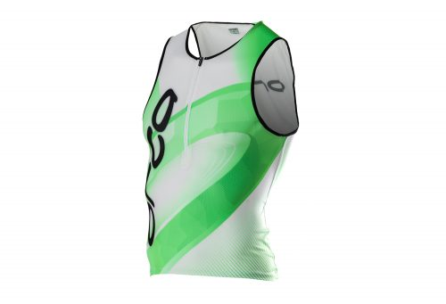 Orca 226 Print Tri Tank - Men's - black/neon green, medium