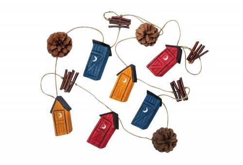 Outside Inside Outhouse Garland - one color, one size