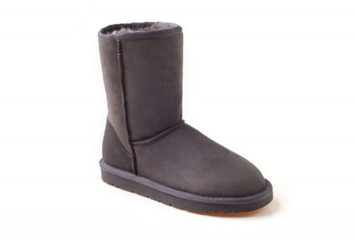 Ozwear Genuine Sheepskin 3/4 Boots - Women's - charcoal, 5.5-6