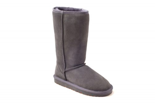 Ozwear Genuine Sheepskin Tall Boots - Men's - charcoal, 10