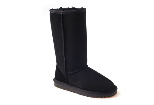 Ozwear Genuine Sheepskin Tall Boots - Women's - black, 10.5-11