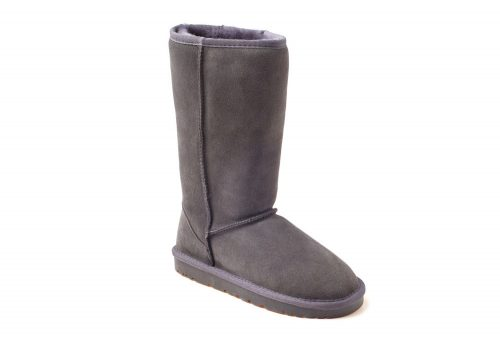 Ozwear Genuine Sheepskin Tall Boots - Women's - charcoal, 10.5-11