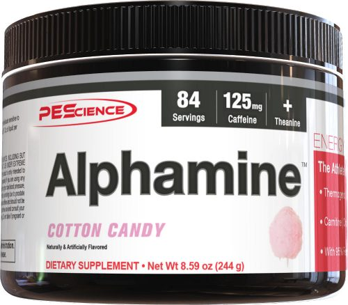 PEScience Alphamine - 84 Servings Cotton Candy